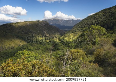 Cadi Range as seen from Cerdanya, Catalan Pyrenees Zdjęcia stock ©