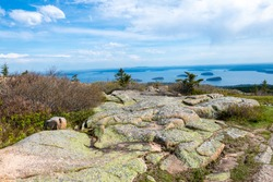 Cadillac Mountain in Acadia National Park in the Spring
