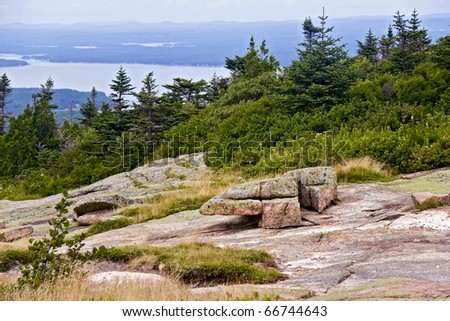 Cadillac Mountain View Acadia National Park, Maine