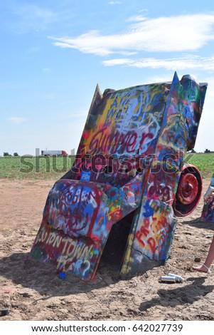 Cadillac ranch Amarillo, Texas