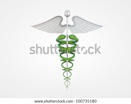 caduceus isolated on white background