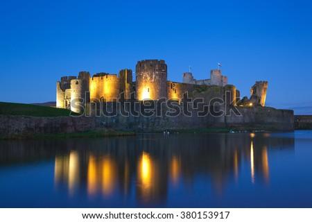 Caerphilly Castle, Wales, U.K.