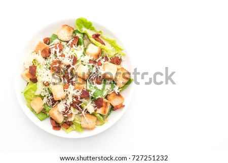 caesar salad isolated on white background