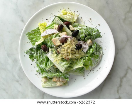 caesar salad medium shot