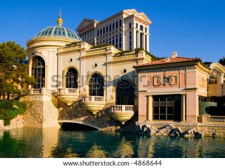 Caesars Palace in Las Vegas at sunset