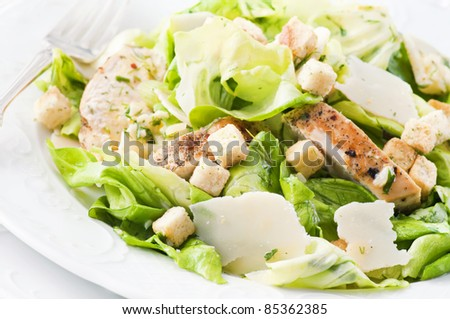 Caeser Salad with chicken and parmesan