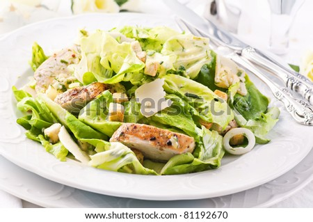 Caeser Salad with chicken fillet