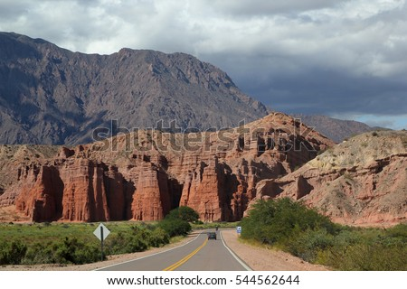 Shutterstock Cafayate, Salta, Province of Argentina. Quebrada de las conchas, route 68. North of Argentina