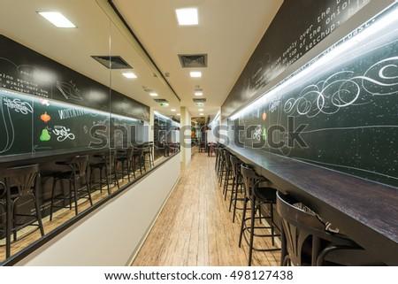 Cafe bar interior   #498127438