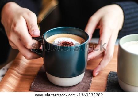 cafe latte coffe mocha chocolate #1369535282