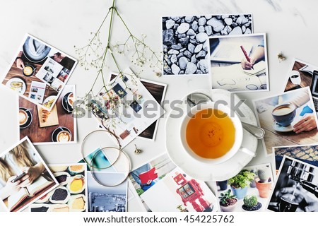 Cafe Tea Time Break Relaxation Photography Concept