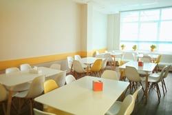 Cafeteria in modern school
