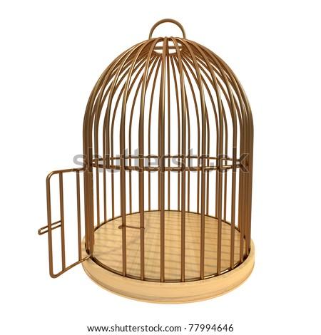 cage with open door