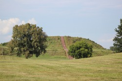 Cahokia Mounds in the Summer