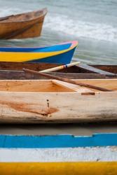 Caiçara canoe, traditional fishing boat from coastal communities in southeastern Brazil - Ubatuba (SP) Brazil