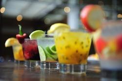 Caipirinha, Brazil's national cocktail made with Cachaca, sugar cane hard liquor, Sao Paulo, Brazil