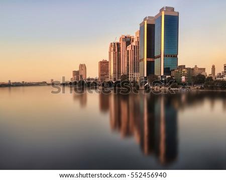 Cairo skyline Egypt, Nile River #552456940