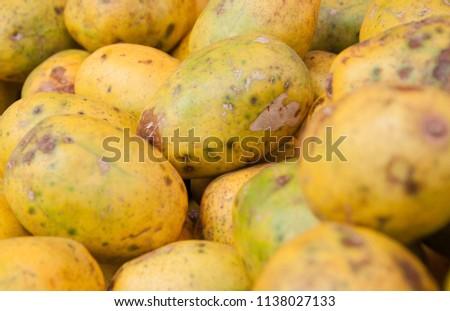 Caja brazilian typical fruit street market Rio de Janeiro Brazil Foto stock ©