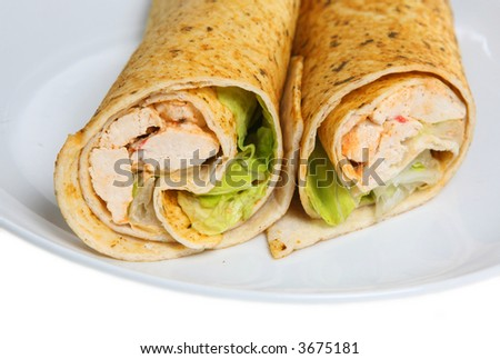 Cajun Chicken Wrap