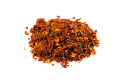 Cajun spice mix isolated on white background