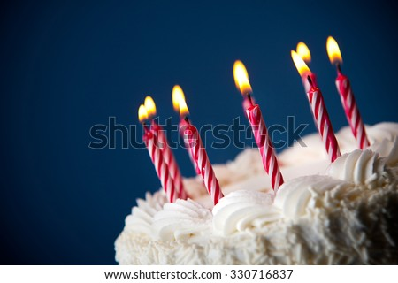 Cake: Birthday Cake With Candles For Any Birthday