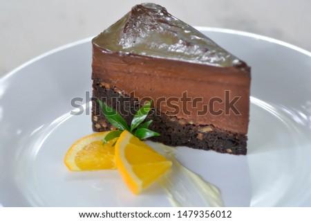cake , chocolate cake and orange