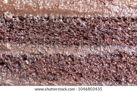 Cake chocolate close up