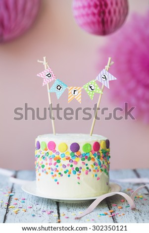 Cake decorated for a birthday party