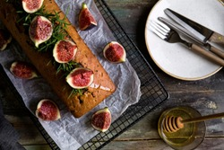 cake decorated with figs