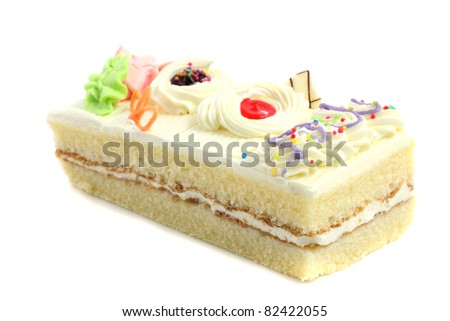 Cake isolated in white background