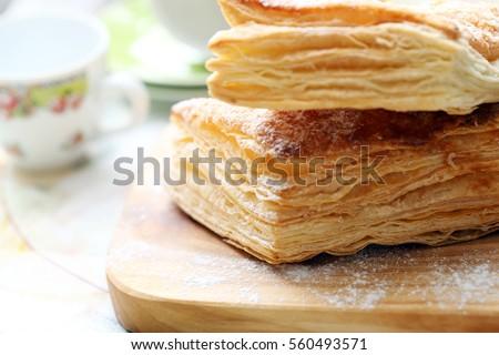 cake of puff pastry ストックフォト ©