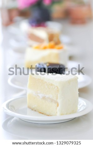 cake or coconut cake, sponge cake