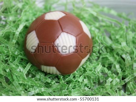 Cake shaped like soccer ball