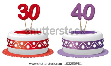 Cake thirty years and forty years