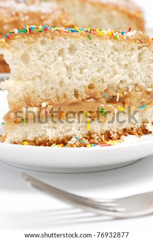 Cake with milk cream