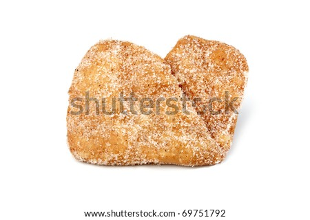 cakes sweets cookies on white background