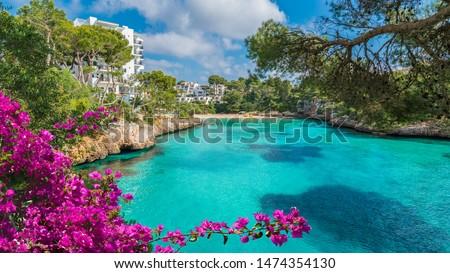 Photo of  Cala Dor bay at Cala d'Or city, Palma Mallorca Island, Spain