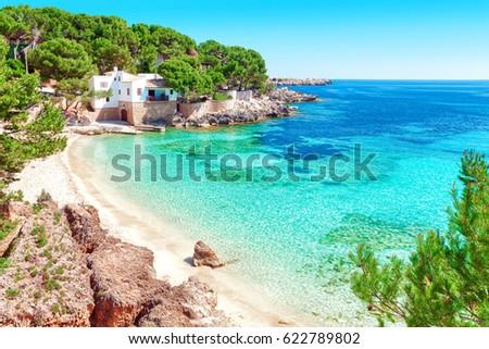 Cala Gat beach (Majorca Spain) Foto stock ©