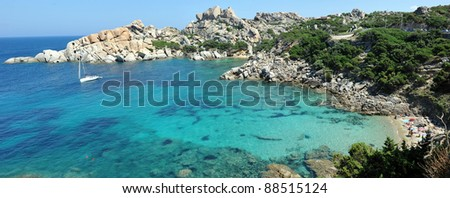 Cala Spinoza in Capo Testa, near the village of Santa Teresa di Gallura, in the northwestern coast of Sardinia.