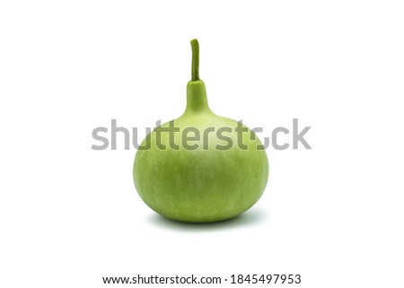 Calabash, Bottle Gourd fruit isolated on the white background with clipping path. Stockfoto ©