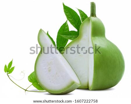 Calabash or  bottle gourd isolated on white background Stockfoto ©