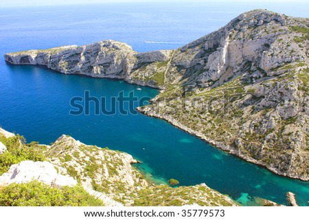 Calanques - stock photo