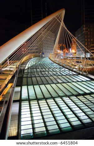 Calatrava's bridge in Bilbao, Spain