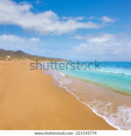 Calblanque beach Park near La Manga Mar Menor in Murcia Spain #221143774