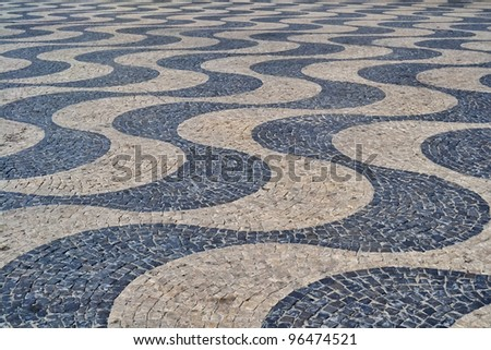 Calcada - Lisbon street cobble mosaic pavement