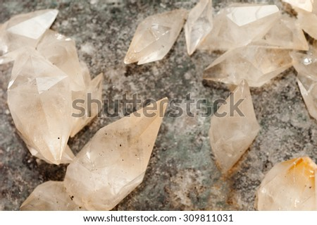 calcite crystal mineral samples, a rare earth mineral