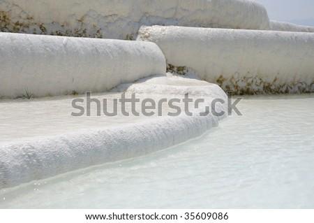 Calcium Carbonate water pools in the Turkey #35609086