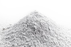 calcium, pile of granulated calcium powder, fluoride, nitrate, used in the beauty, pharmaceutical or industrial industry