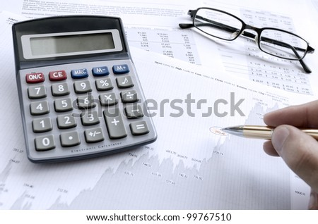 Calculating financials. Creating financial report.