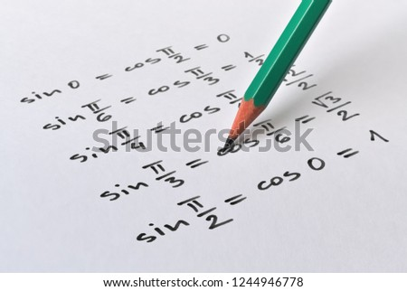 Calculation of the value of some trigonometric functions for given arguments